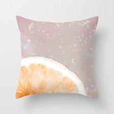 Grapefruit Citrus Throw Pillow