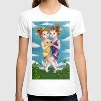 gemini T-shirts featuring Gemini by Paula Ellenberger