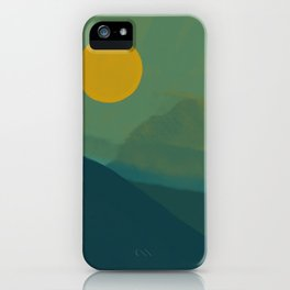 The Hills Felt Green That Evening iPhone Case