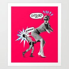 Butt Jab Art Print