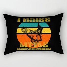 I Raise Little Dinosaurs, Chicken Rectangular Pillow