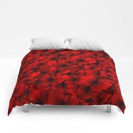 red butterflies Comforters