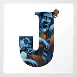 jazz! - j Art Print