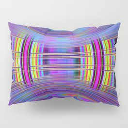 Dynamic fractal abstract in rainbow colors Pillow Sham