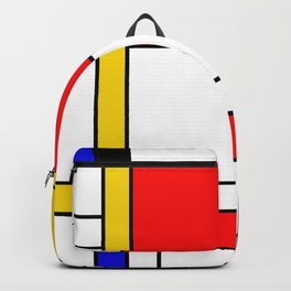 Bauhouse Composition Mondrian Style Backpack