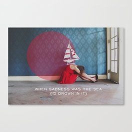 when sadness was the sea Canvas Print