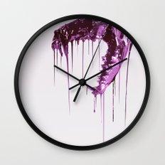 Painted Skull Purple Wall Clock