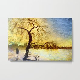 Walk Under the Willow Metal Print