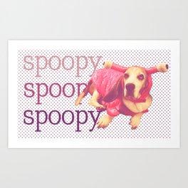 Spoopy Dog Lobster Art Print
