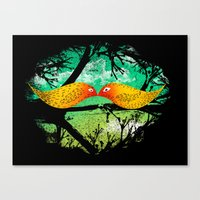mustache Canvas Prints featuring mustache by sustici