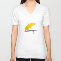 himym V-neck T-shirts featuring HIMYM - The Yellow Umbrella by George Hatzis