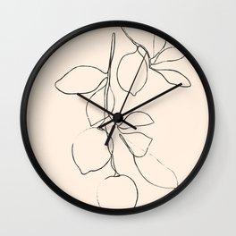 Minimal Lemons Wall Clock