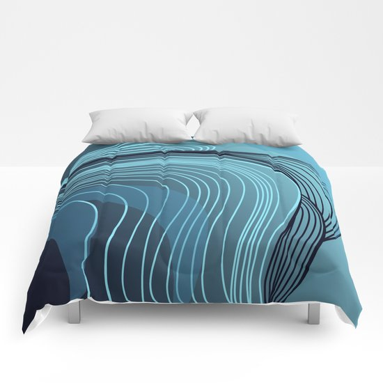 serie acqua: ocean waves Comforters