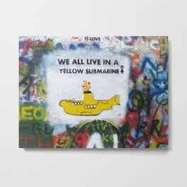 Yellow Submarine Graffiti Metal Print