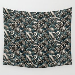 Sea Monsters Wall Tapestry