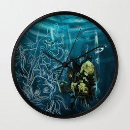 Falling into the dark Wall Clock