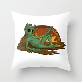 The Needo for Speedo Throw Pillow