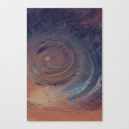 eye in the sky, eye in the desert   space #01 Canvas Print
