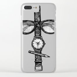 Simple objects Clear iPhone Case