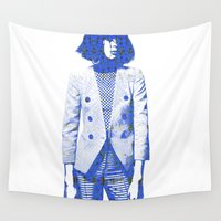 suit Wall Tapestries featuring Suit by fashionistheonlycure