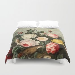 Pink  Red Floral : New Illustration Of The Sexual System Duvet Cover