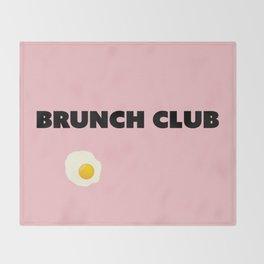 brunch club Throw Blanket