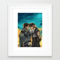 daunt Framed Art Prints featuring Say Goodbye by Daunt