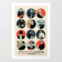 jazz Art Prints featuring Jazz  by Prelude Posters