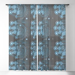 Abstract twirl Star Sheer Curtain