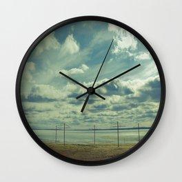 Empty beach Wall Clock