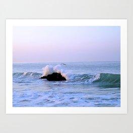 Seascape Malibu Art Print