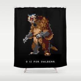 O is for Owlbear Shower Curtain