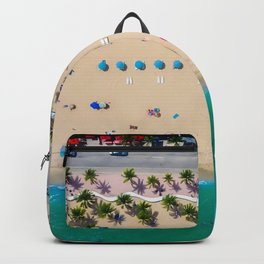 USA Photography - Miami Beach From Bird Perspective Backpack