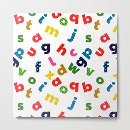 colourful alphabet Metal Print