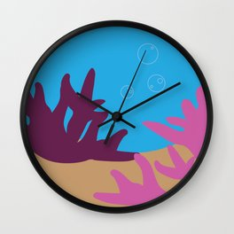 Corals in the Ocean Wall Clock