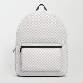 Creamy Tofu and White Mini Check 2018 Color Trends Backpack