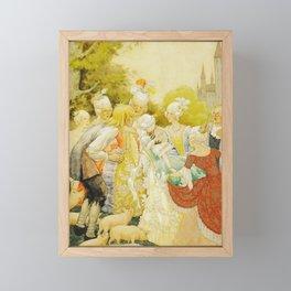 Swineherd and the Princess by Rudolf Koivu Framed Mini Art Print