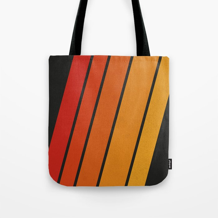 Retro 70s Stripes Tote Bag