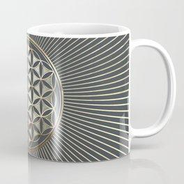 Flower of life metallic embossed Coffee Mug