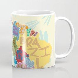 Map. Mapa. Carte. Coffee Mug