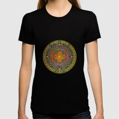 Aztec Sun God Black SMALL Womens Fitted Tee