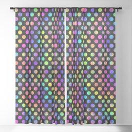 Rainbow Polka Dot Pattern Sheer Curtain