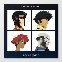 cowboy bebop Canvas Prints featuring Cowboy Bebop - Bounty Days by Aaron Secrist