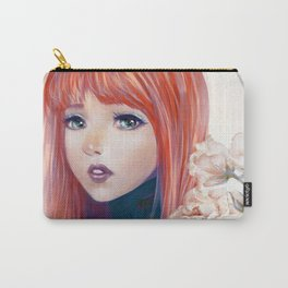 Captain Goldfish - Anime sci-fi girl with red hair portrait Carry-All Pouch