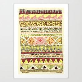 Pizza Pattern Art Print