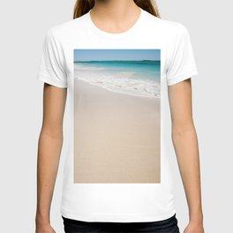 white sandy beach T-shirt