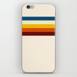 Never-ending Summer Time Retro Stripe iPhone Skin