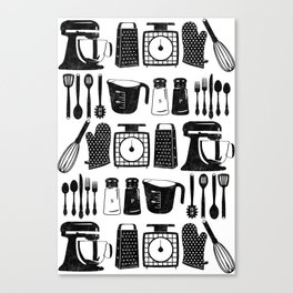Kitchen Utensils Canvas Print
