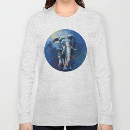 Elephant Dream - Colorful wild animal digital painting Long Sleeve T-shirt