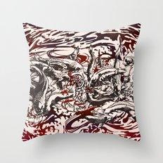 Koi Whirlpool Throw Pillow